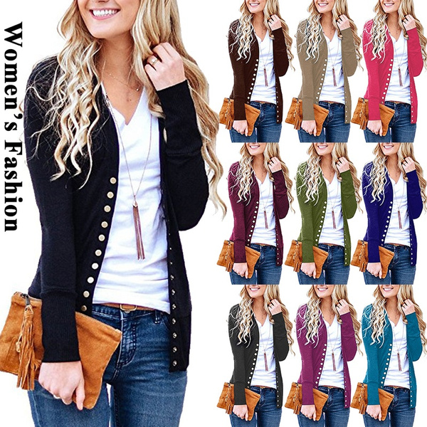casual coat, blouse, cardigan, Women's Casual Tops