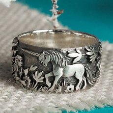 Sterling, Silver Jewelry, unicornring, 925 silver rings