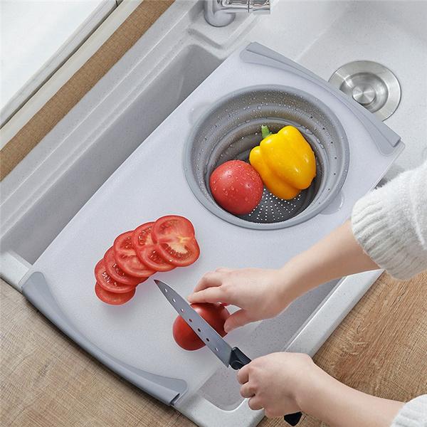 Kitchen & Dining, foldingdrainbasket, cuttingboardset, detachable