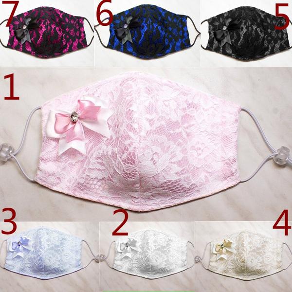washable, Fashion, Lace, satinmask