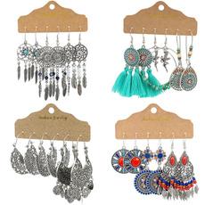 bohemianjewelry, nationalstyleearring, Tassels, Jewelry