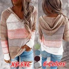 stitchingcolorsweater, Plus Size, Long Sleeve, stitchingcolorhoodie