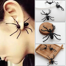 halloweenearring, Jewelry, spiderearring, Stud Earring