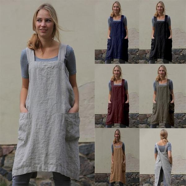 apron, Plus Size, Garden, Tunic dress