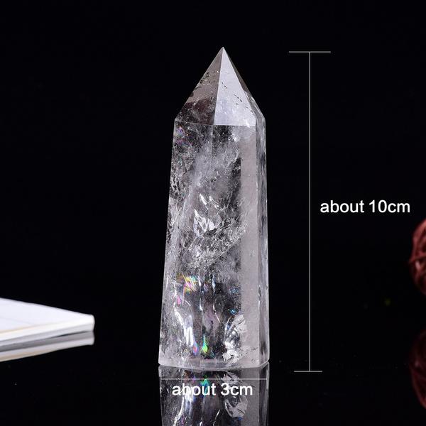 crystalpoint, Decor, clearquartzwand, Home Decor