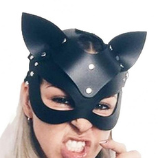 Cosplay, leather, costumemask, masquerademask
