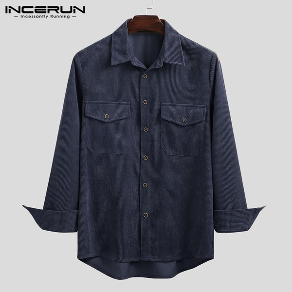 lapel, Fashion, long sleeved shirt, corduroyshirt