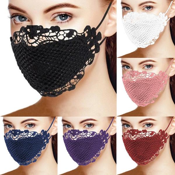 Fashion, dustmask, sequinmask, Lace