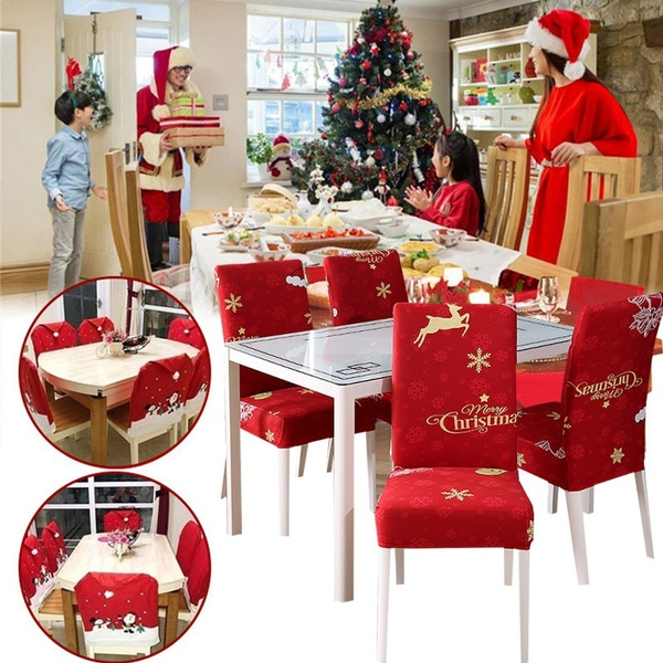 Santa Claus Kitchen Table Chair Covers Christmas Chair Cover Holiday Home Party Decoration Fundas Para Sillas De Comedor Wish