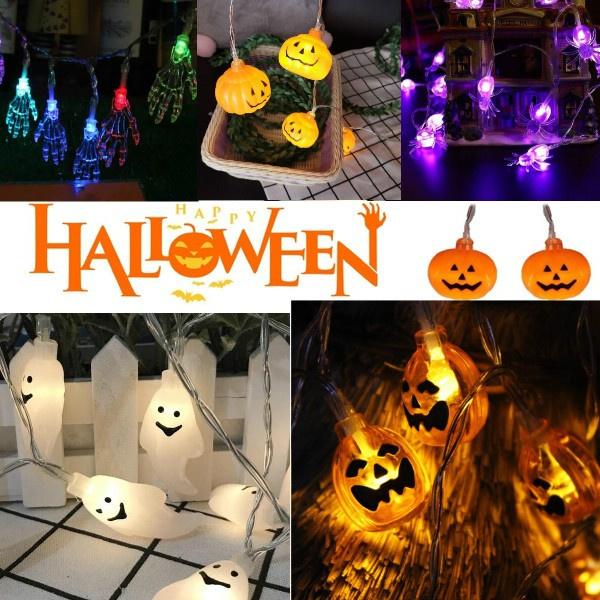 ghost, decoration, halloweenlamp, Holiday