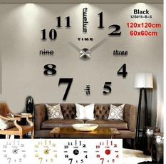 decoration, Home Decor, 3dwallclock, Clock