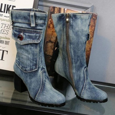 Plus Size, Invierno, Womens Shoes, Cowboy