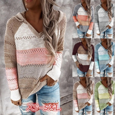 stitchingcolorsweater, Fashion, Sleeve, Long Sleeve