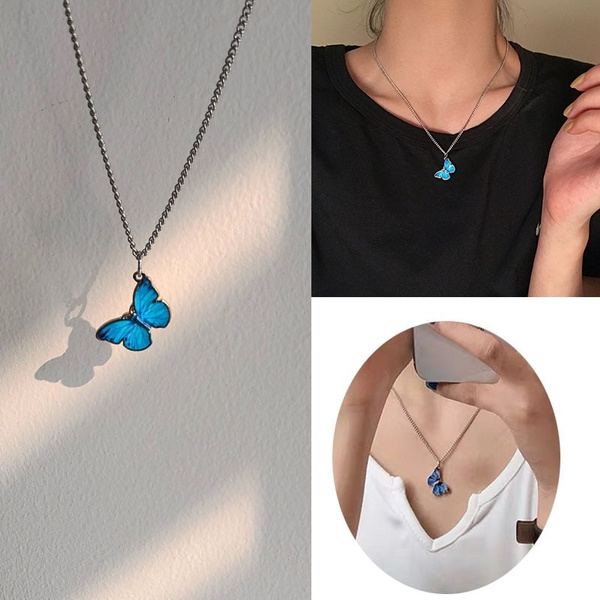 butterfly, clavicle  chain, collardemujer, Fashion
