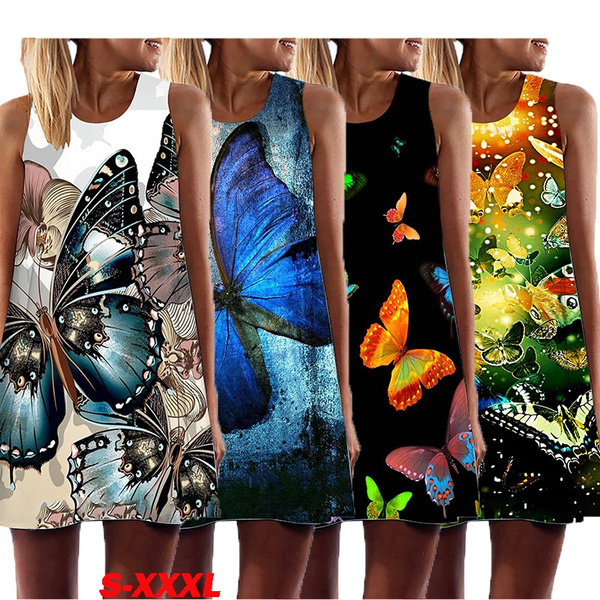 butterfly, Summer, Shorts, Mini