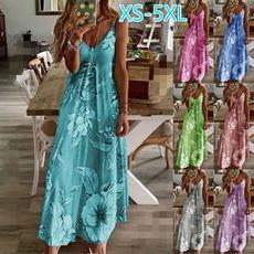 Summer, printeddres, Halter, women dresses