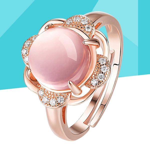 rosequartzring, quartz, Rose Gold Ring, girlsring