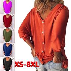 Plus size top, womens top, V-neck, Women's Fashion