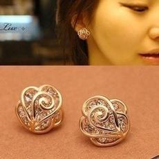 Fashion, Jewelry, Earring, Rose