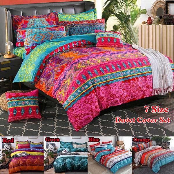 Quilt Duvet Cover Set /& Pillow Cases Single Double King Indian Bedding Set