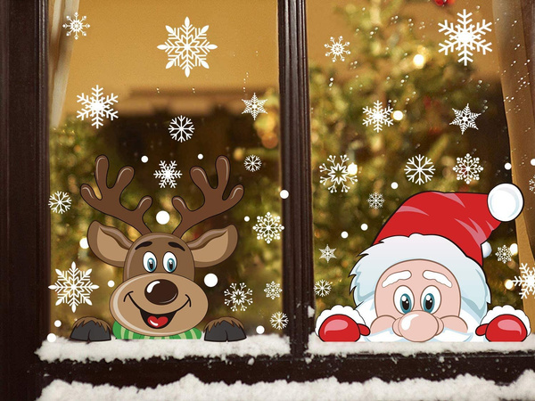 windowdecal, christmaswindowdecal, christmasdecal, Glass
