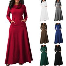 Women, Plus Size, long sleeve dress, long dress