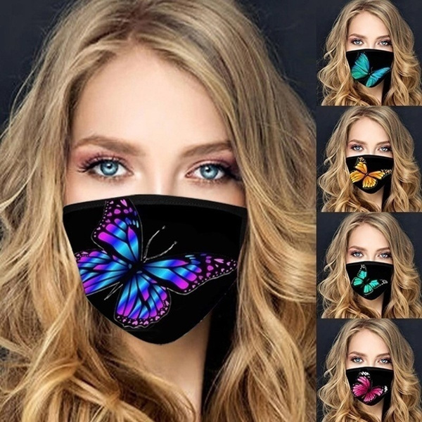 butterfly, Fashion, Breathable, printedmask