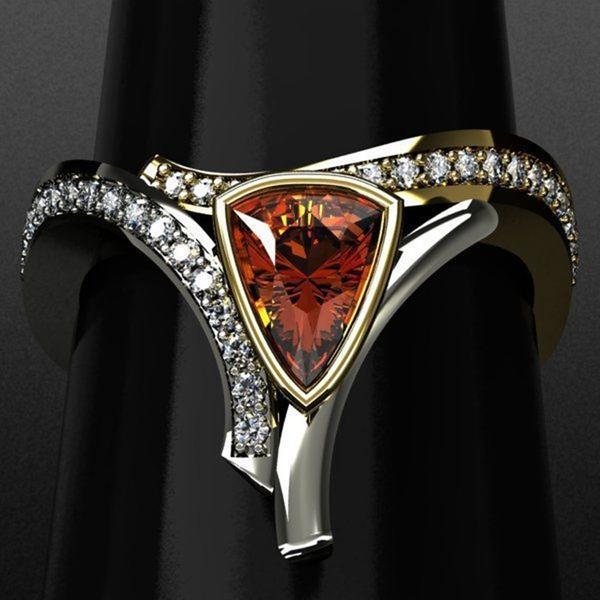 DIAMOND, Triangles, shield, Stainless Steel