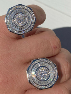 Real, Sterling, DIAMOND, sterling silver
