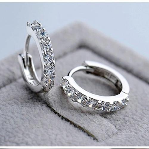 Steel, Sterling, Hoop Earring, Jewelry