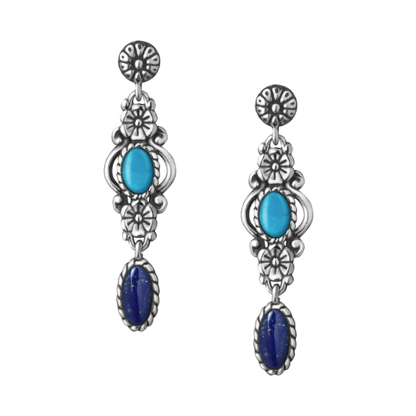Turquoise, Flowers, Jewelry, vintage earrings