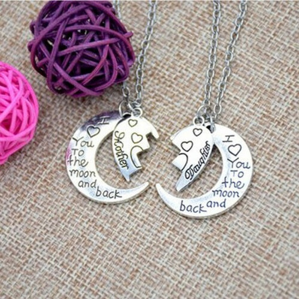 Heart, Chain Necklace, motherdaughter, Jewelry