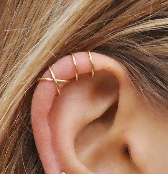 piercedearring, leafearcuff, leaf, Jewelry