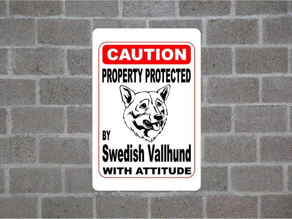 swedishvallhund, cautionsign, warningsign, swedishvallhundtinsign