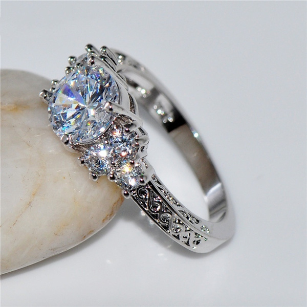 White Gold, cute, Engagement, wedding ring