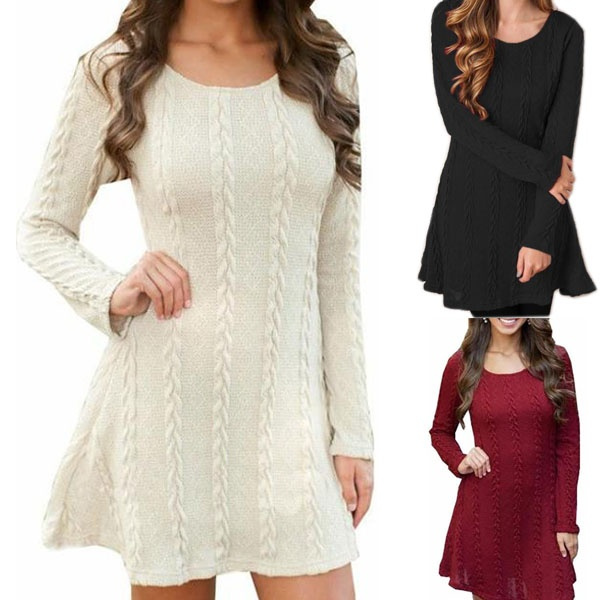 knitted, Shorts, sweater dress, Winter