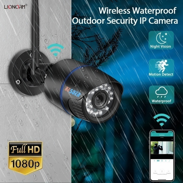 1080psecuritycamera, wificameraoutdoor, led, Bullet