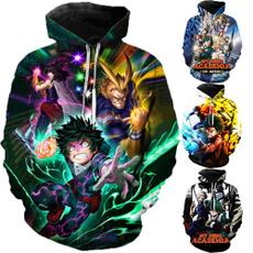Couple Hoodies, 3D hoodies, myheroacademia, Sweatshirts