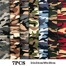 Cotton fabric, printed, camouflagecotton, diyhandmadepatchworkfabric