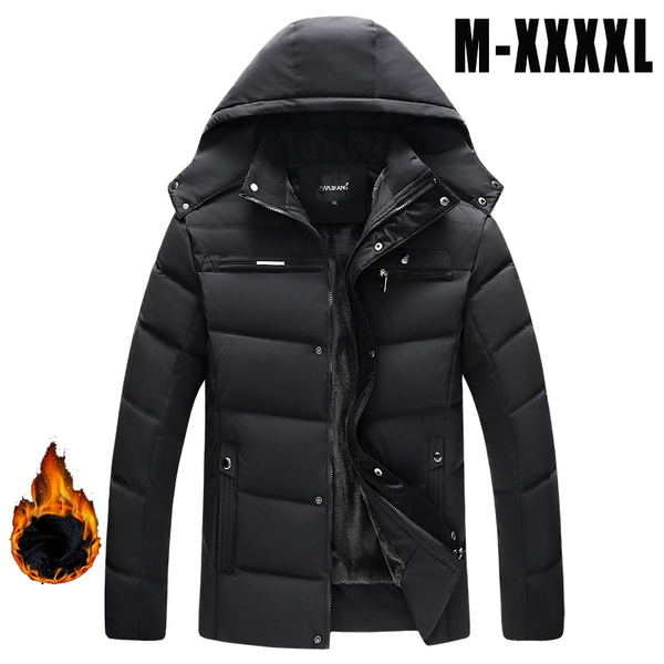 hooded, ropadehombre, Winter, Coat