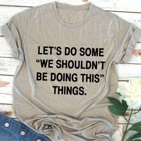 Funny, Tees & T-Shirts, Cotton, Shirt