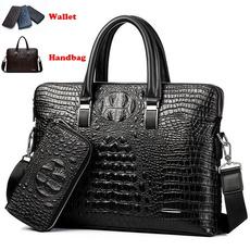 Shoulder Bags, Fashion, crocodilepatternbag, leather