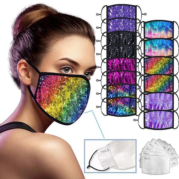 dustproofmask, sequinmask, Masks, Sequin