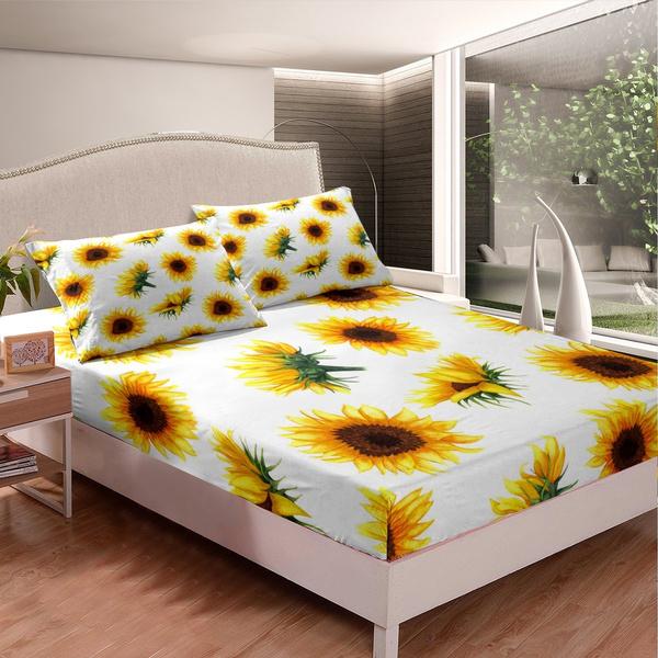 bettdecke, supersoft, bedsheetset, Sunflowers