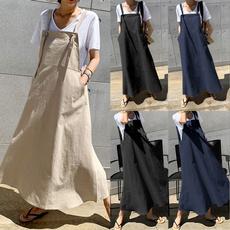 Summer, long skirt, dressesforwomen, withpocket