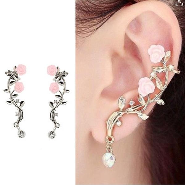 Flowers, Jewelry, girleardrop, Stud Earring
