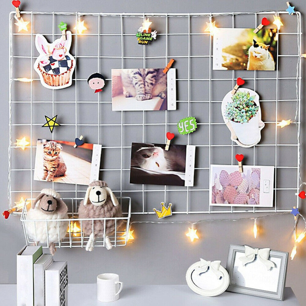 photodisplay, wiregridrack, homebedroomdecor, Home & Living