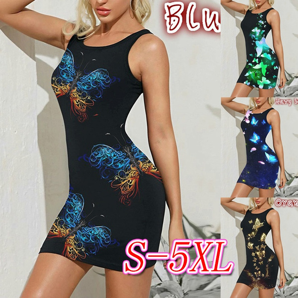 Sleeveless dress, printeddres, plus size dress, Dress