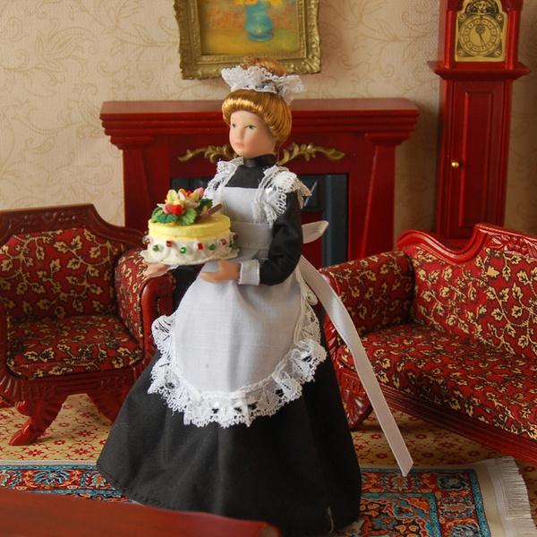 Toy, greenblack, dollhouseporcelaindoll, Porcelain