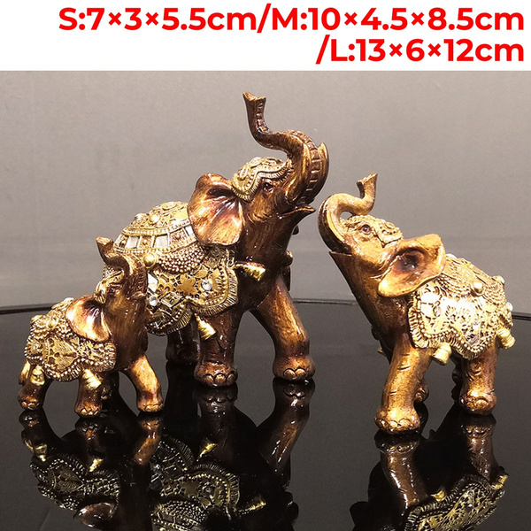 homedecoretion, elephantstatue, golden, Home & Living